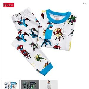 Pottery Barn Kids Glow in the Dark Marvel pajamas